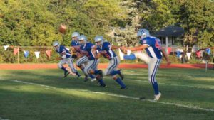 The Herricks Highlanders played an action-filled game against the Sanford H. Calhoun Colts.