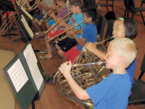 Students participated in chorus sessions, followed by either band or orchestra rehearsals and electives.